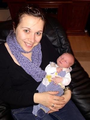 Das bin ich mit meinem Baby
